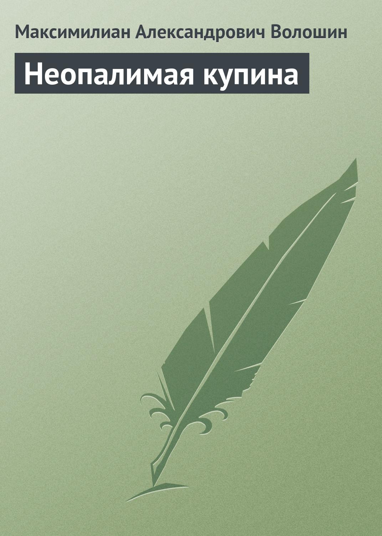 Максимилиан Волошин Неопалимая купина максимилиан волошин к лекции поэта ильи эренбурга