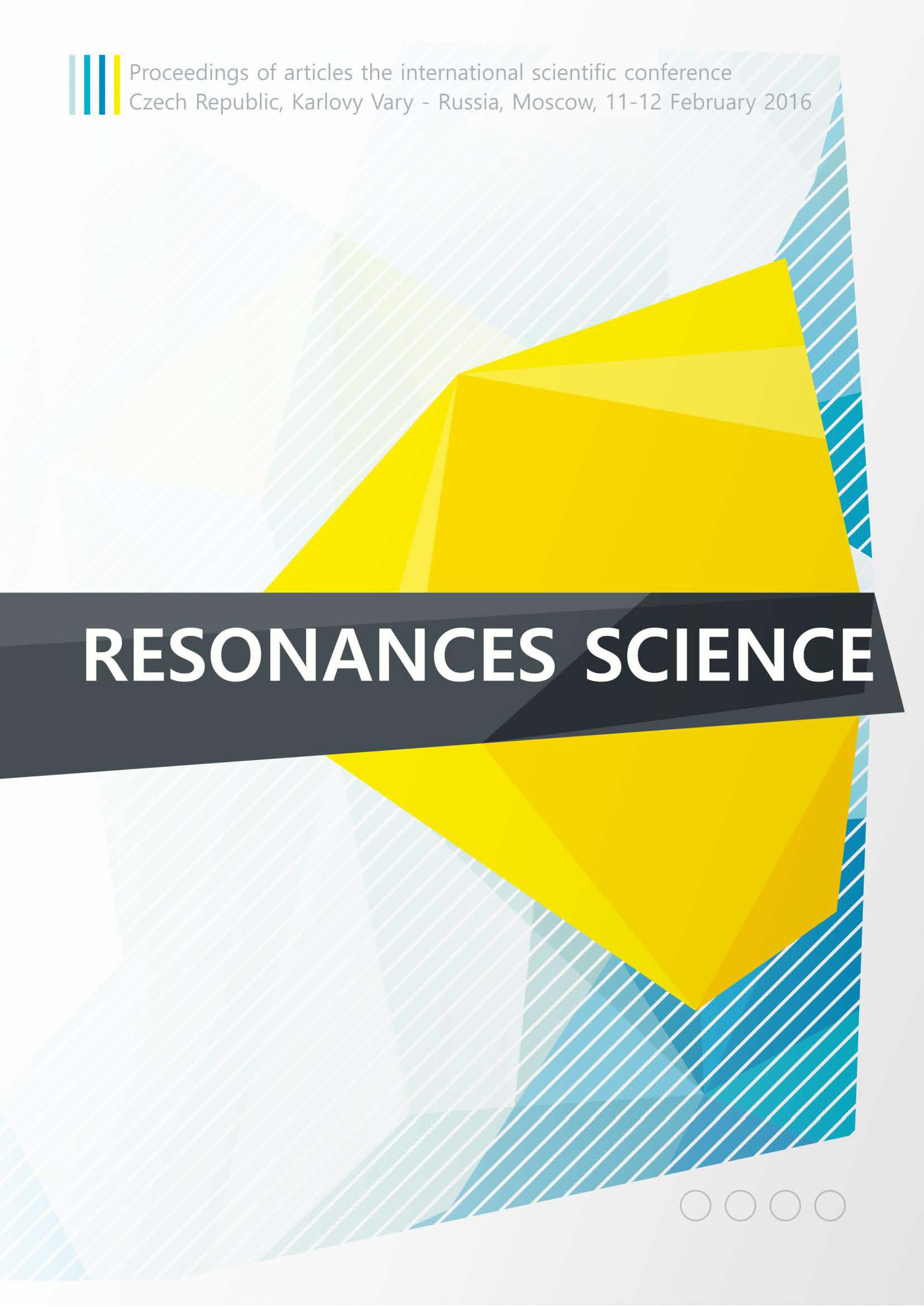 Сборник статей Resonances science. Proceedings of articles the international scientific conference. Czech Republic, Karlovy Vary – Russia, Moscow, 11–12 February 2016