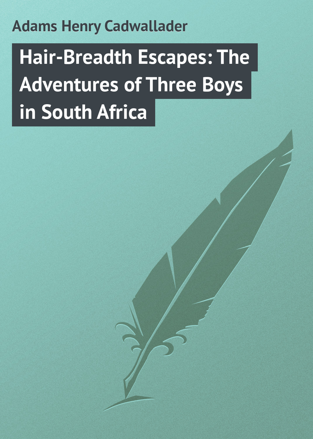 цена на Adams Henry Cadwallader Hair-Breadth Escapes: The Adventures of Three Boys in South Africa