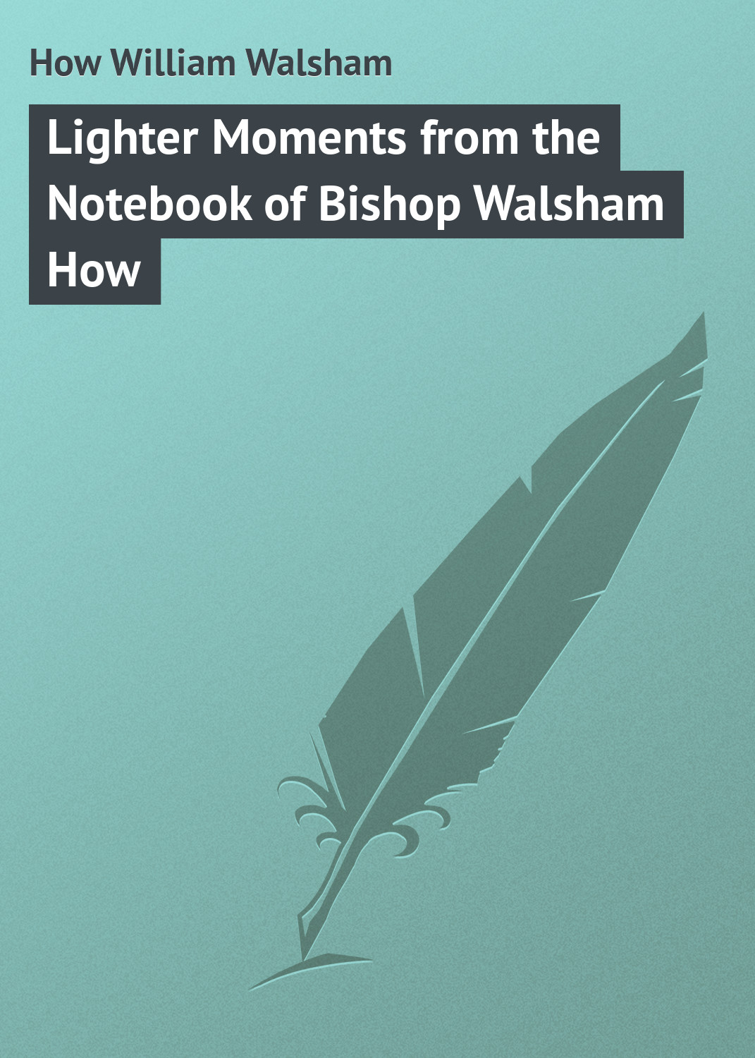 How William Walsham Lighter Moments from the Notebook of Bishop Walsham How bishop sleeve glitter dress