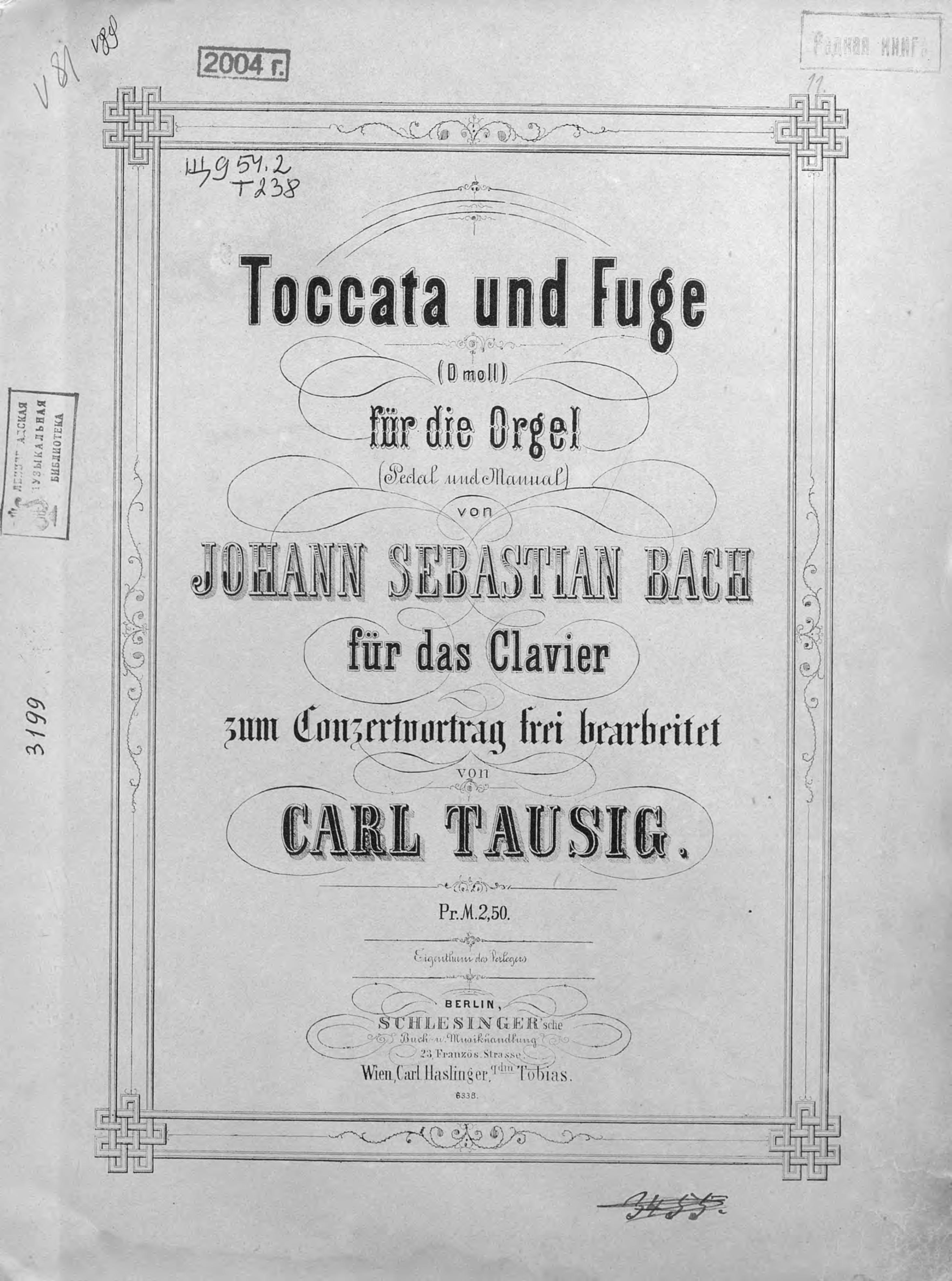 Иоганн Себастьян Бах Toccata und Fuge (D-moll) fur die Orgel v. Jogann Sebastian Bach d behrens zeitschrift fur franzosische sprache und literatur vol 34 abhandlungen classic reprint