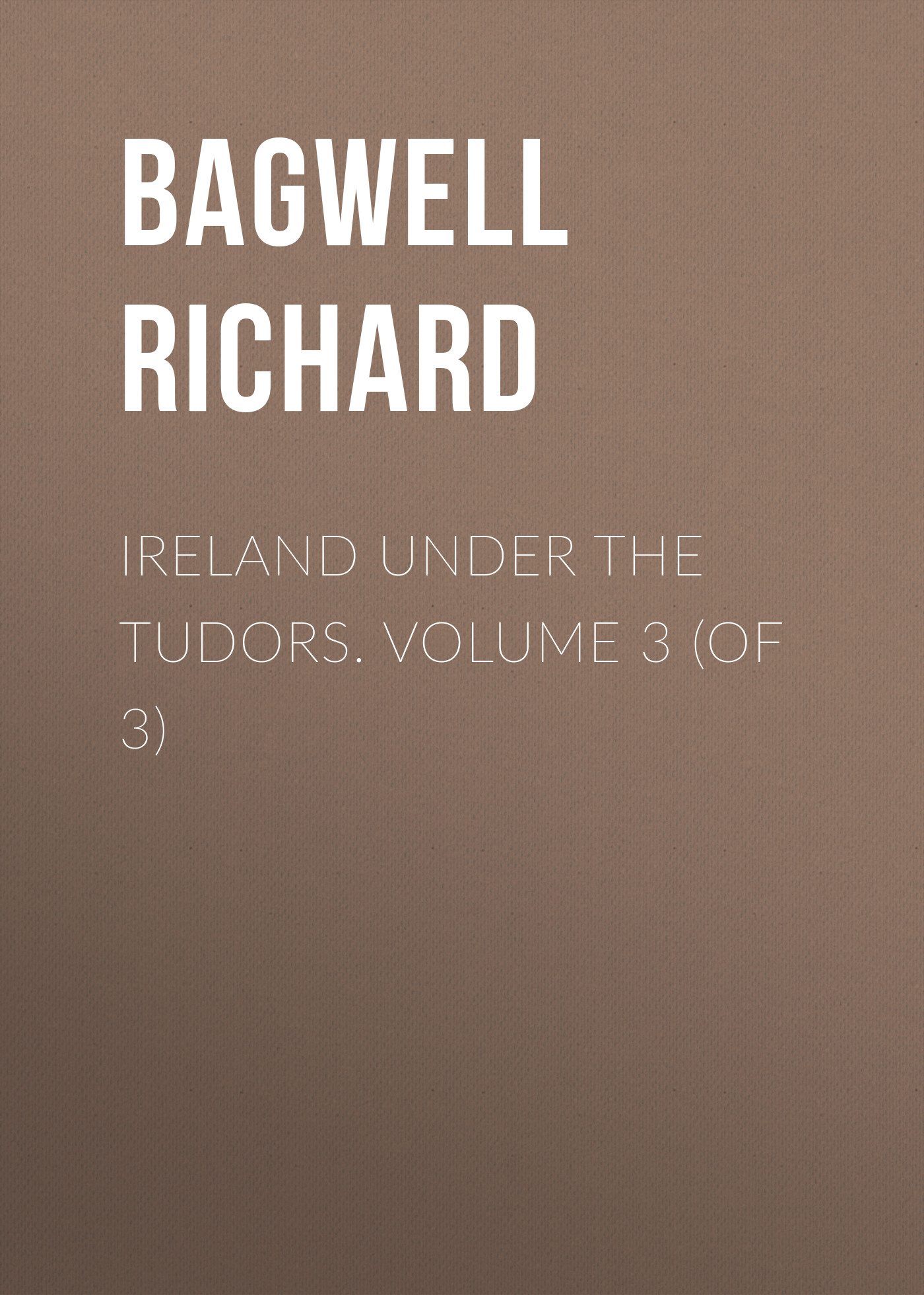 Bagwell Richard Ireland under the Tudors. Volume 3 (of 3)