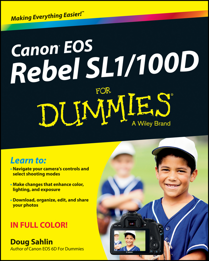 Doug Sahlin Canon EOS Rebel SL1/100D For Dummies hj8108 90t brushless gimbal motor for dslr red epic camera fpv aerial photography