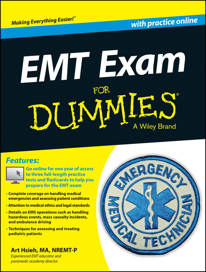 Фото - Arthur Hsieh EMT Exam For Dummies with Online Practice gre for dummies with online practice tests