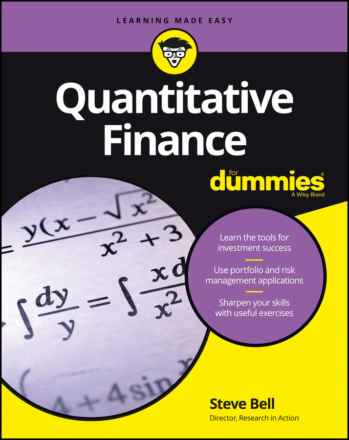 Steve Bell Quantitative Finance For Dummies risk sharing in finance