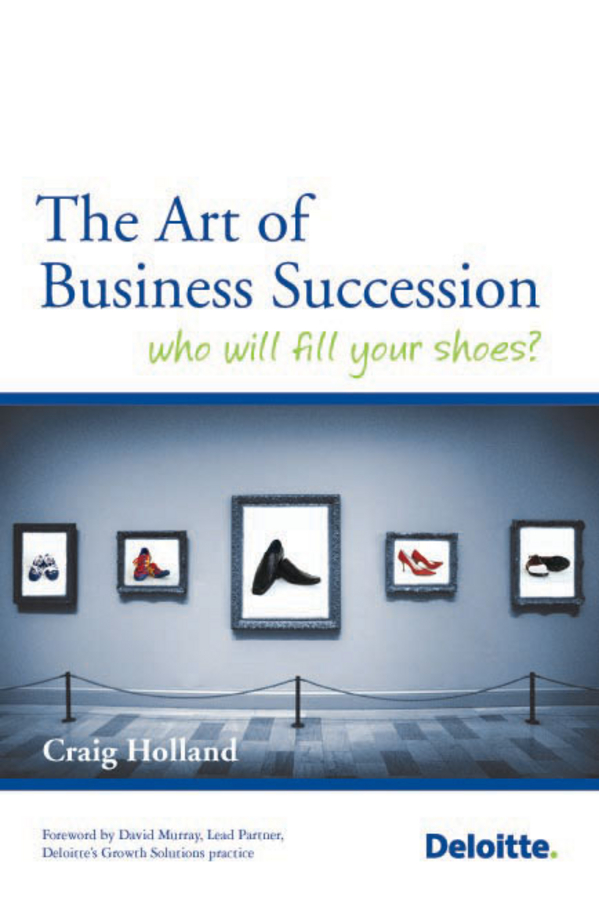 Craig Holland The Art of Business Succession. Who will fill your shoes? street storm cvr a7810 page 5