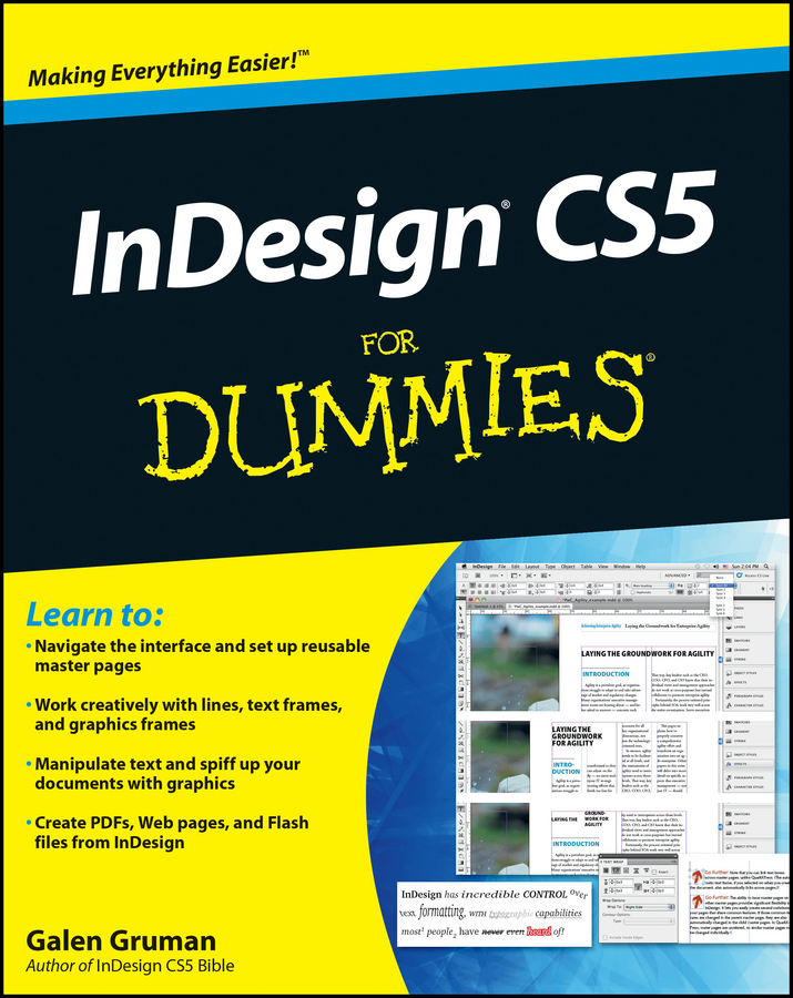 Galen Gruman InDesign CS5 For Dummies galen gruman indesign cs5 bible