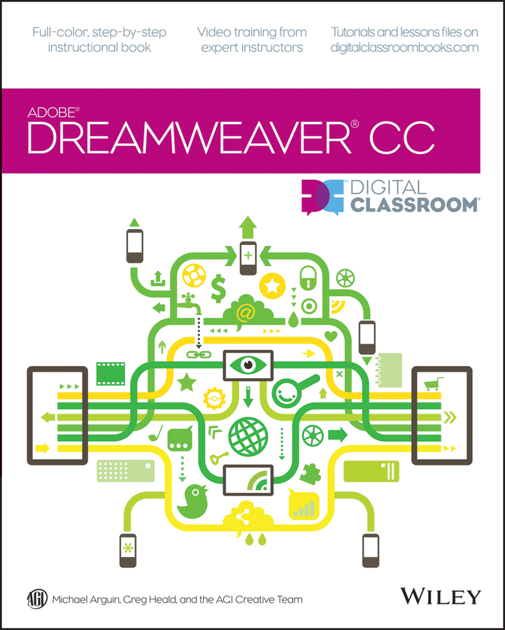 Greg Heald Dreamweaver CC Digital Classroom janine warner dreamweaver cc for dummies