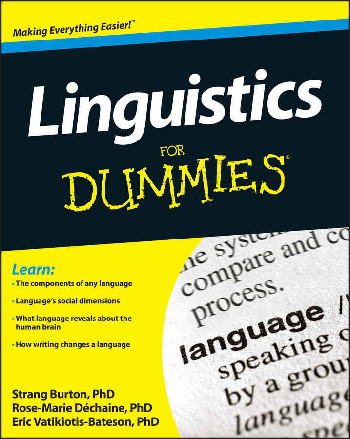 Rose-Marie Dechaine Linguistics For Dummies