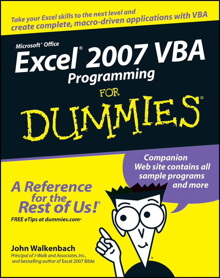 John Walkenbach Excel 2007 VBA Programming For Dummies john walkenbach excel vba programming for dummies