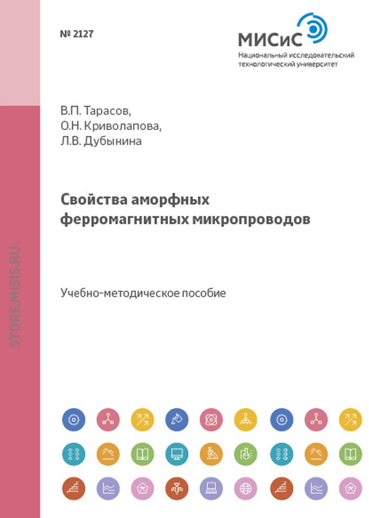 Вадим Тарасов Свойства аморфных ферромагнитных микропроводов