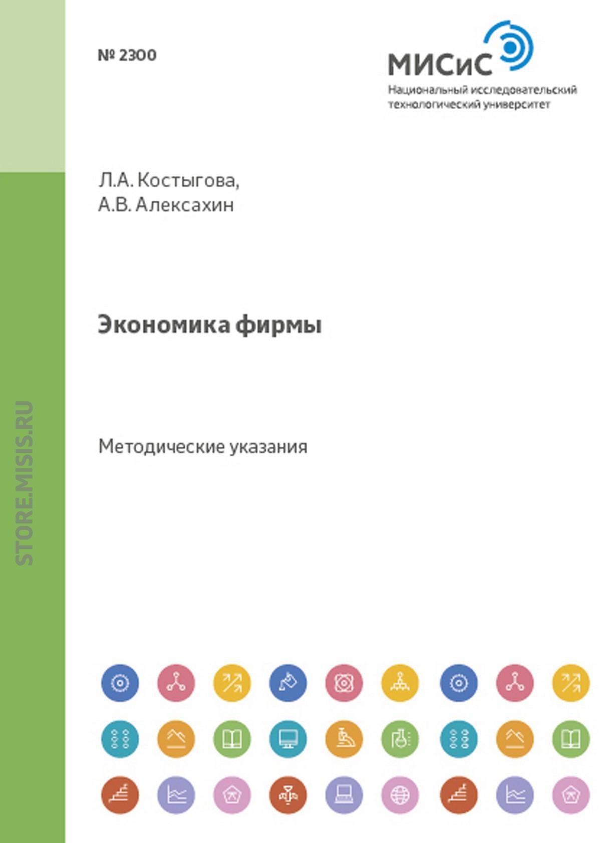 Людмила Костыгова Экономика фирмы. Расчет экономических показателей недорого
