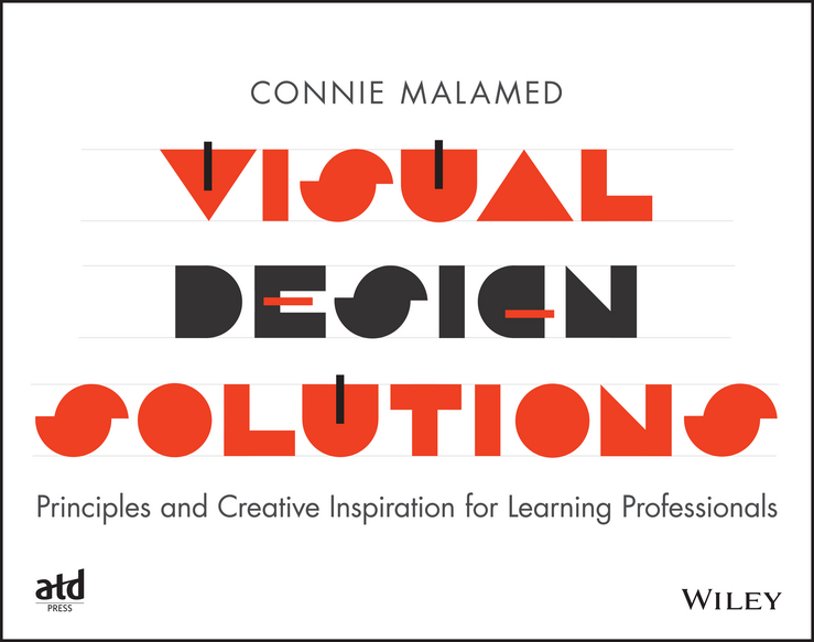 Фото - Connie Malamed Visual Design Solutions. Principles and Creative Inspiration for Learning Professionals concise colour block and circle pattern design men s slippers