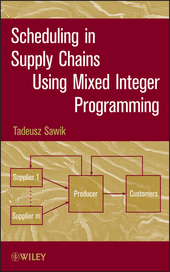 Tadeusz Sawik Scheduling in Supply Chains Using Mixed Integer Programming taburete cap roig