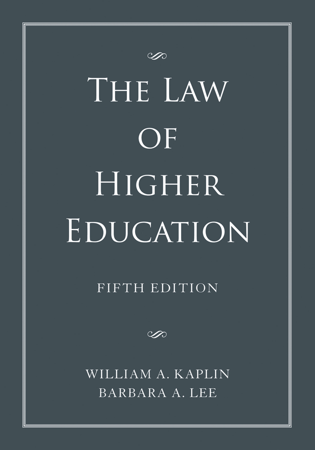 Barbara Lee A. The Law of Higher Education, 2 Volume Set gistered muleya human rights and education in zambia