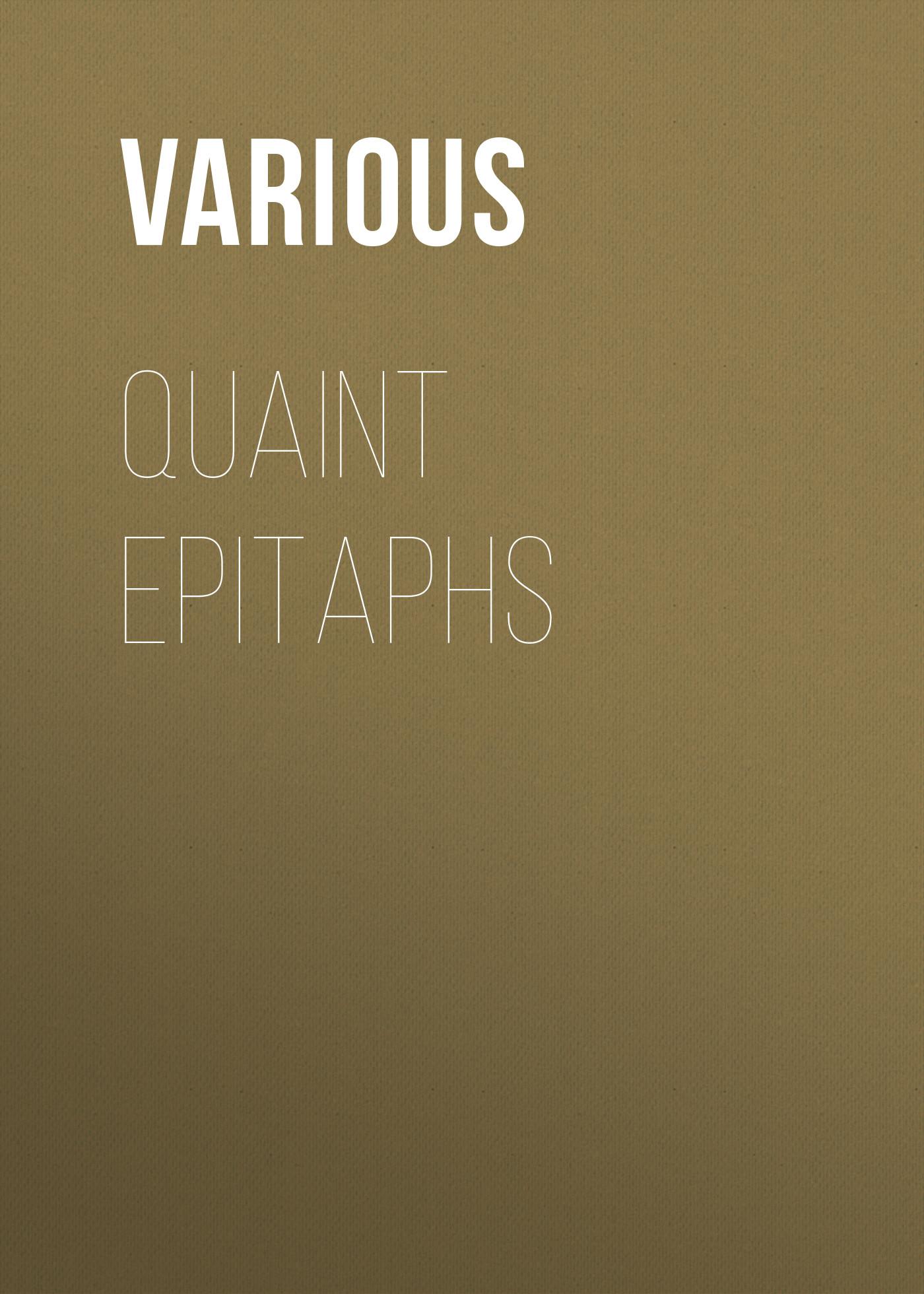 Quaint Epitaphs