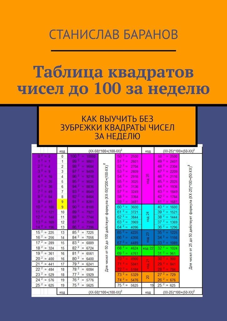 Станислав Баранов Таблица квадратов чисел до100занеделю. Как выучить квадраты чисел без зубрежки занеделю беденко марк васильевич смекай виталий таблица умножения без напряжения рабочая тетрадь 3 класс