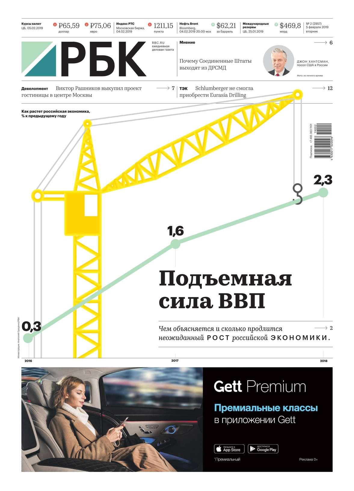 Ежедневная Деловая Газета Рбк 02-2019