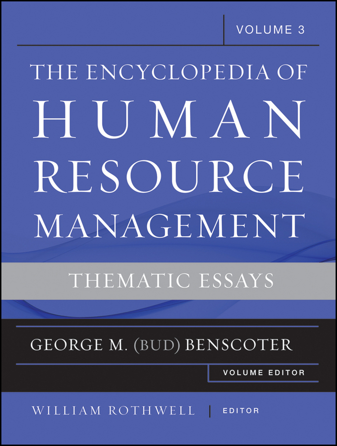 William J. Rothwell The Encyclopedia of Human Resource Management, Volume 3