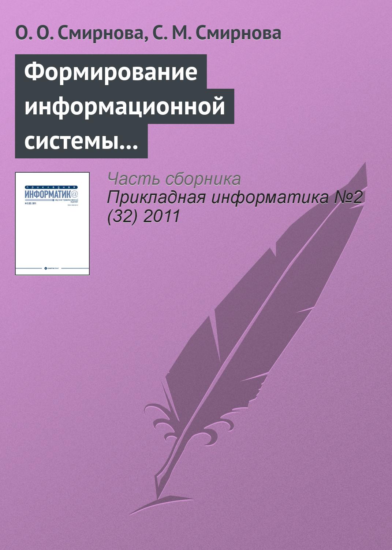 цены О. О. Смирнова Формирование информационной системы мониторинга региональных рынков продуктов питания