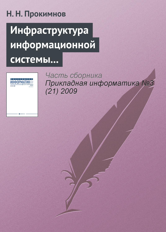 Н. Н. Прокимнов Инфраструктура информационной системы мониторинга экономических процессов