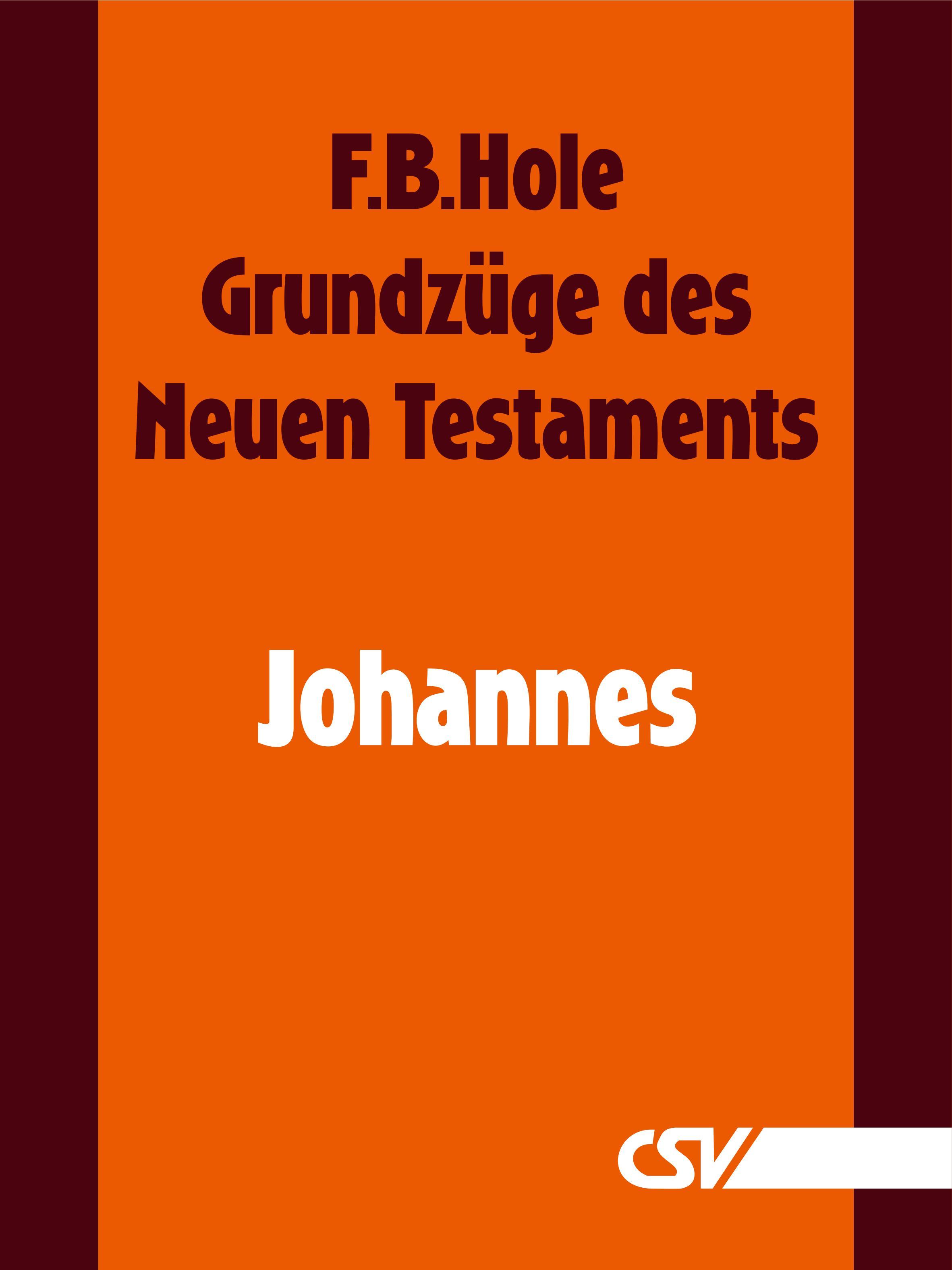 F. B. Hole Grundzüge des Neuen Testaments - Johannes f b hole grundzüge des neuen testaments 2 korinther