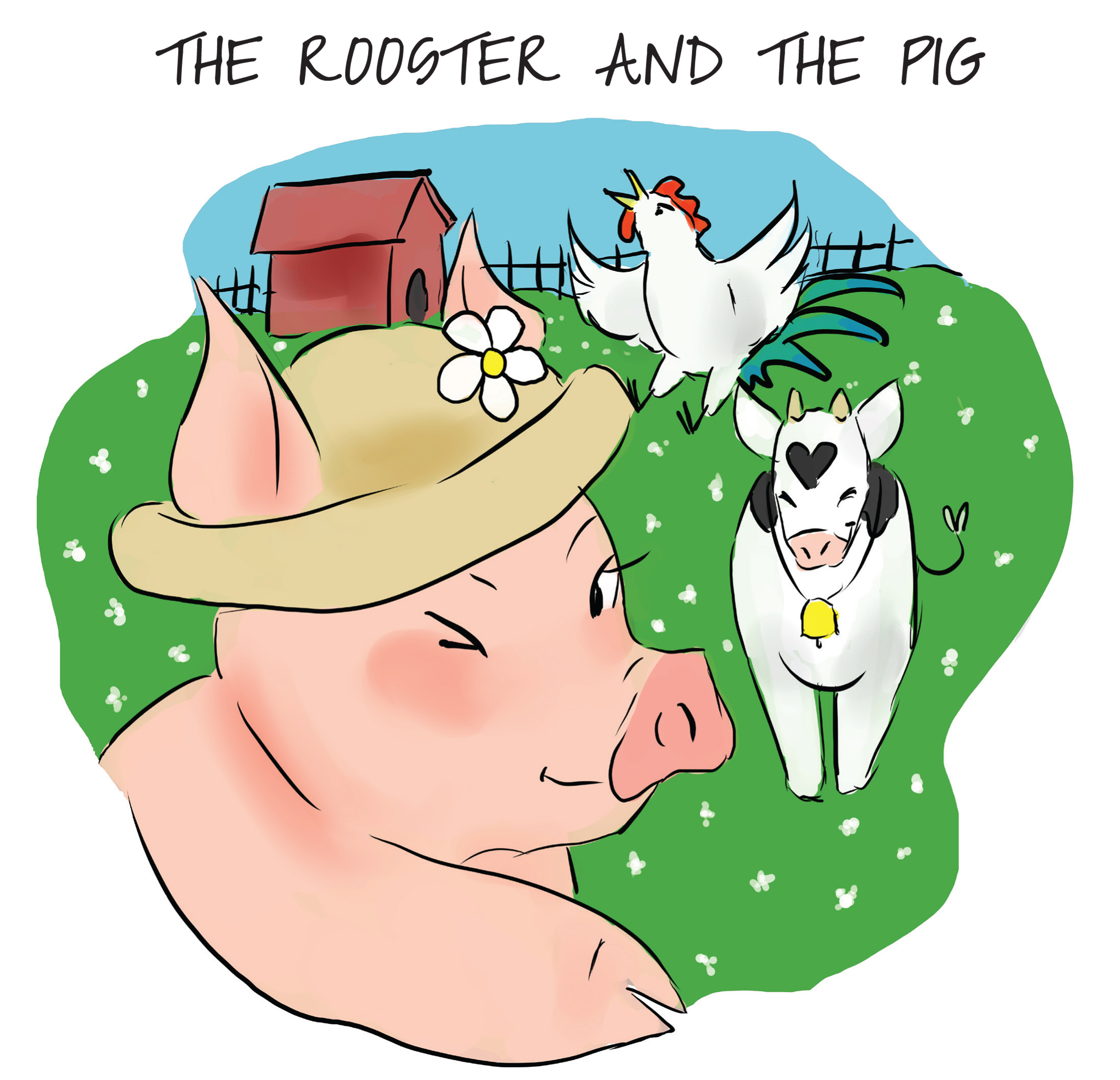 Clara Santos The Rooster and the Pig the rooster struts page 8