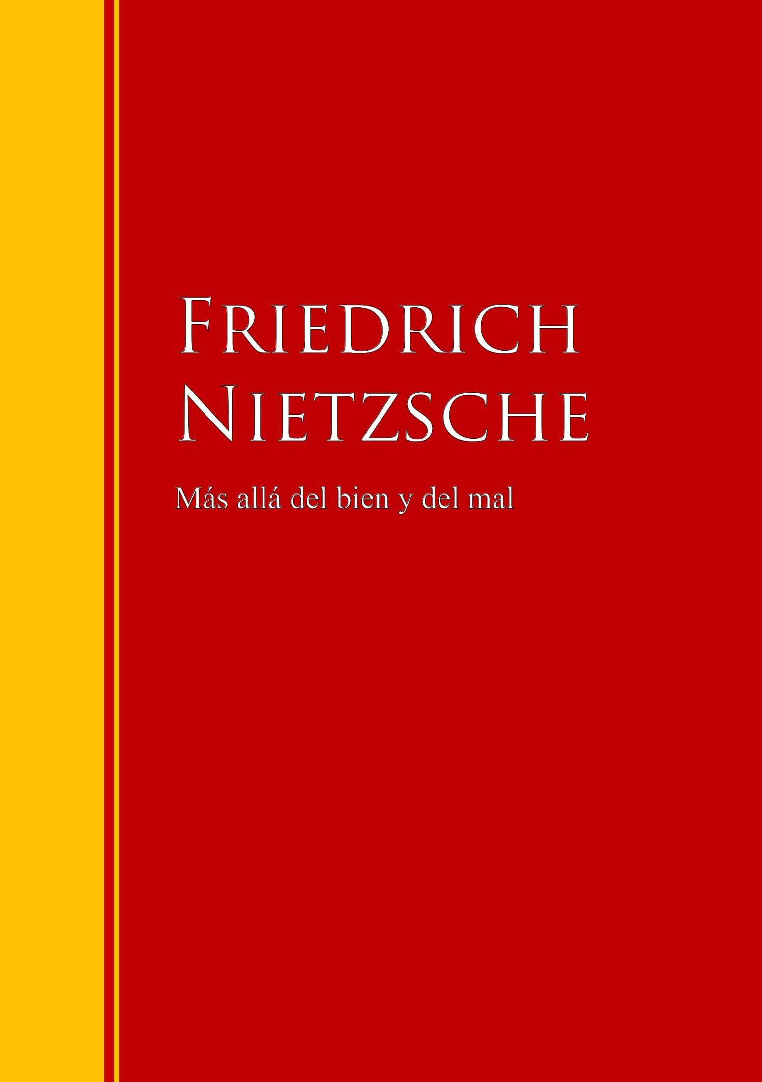 Friedrich Nietzsche Más allá del bien y del mal diana palmer más allá del odio