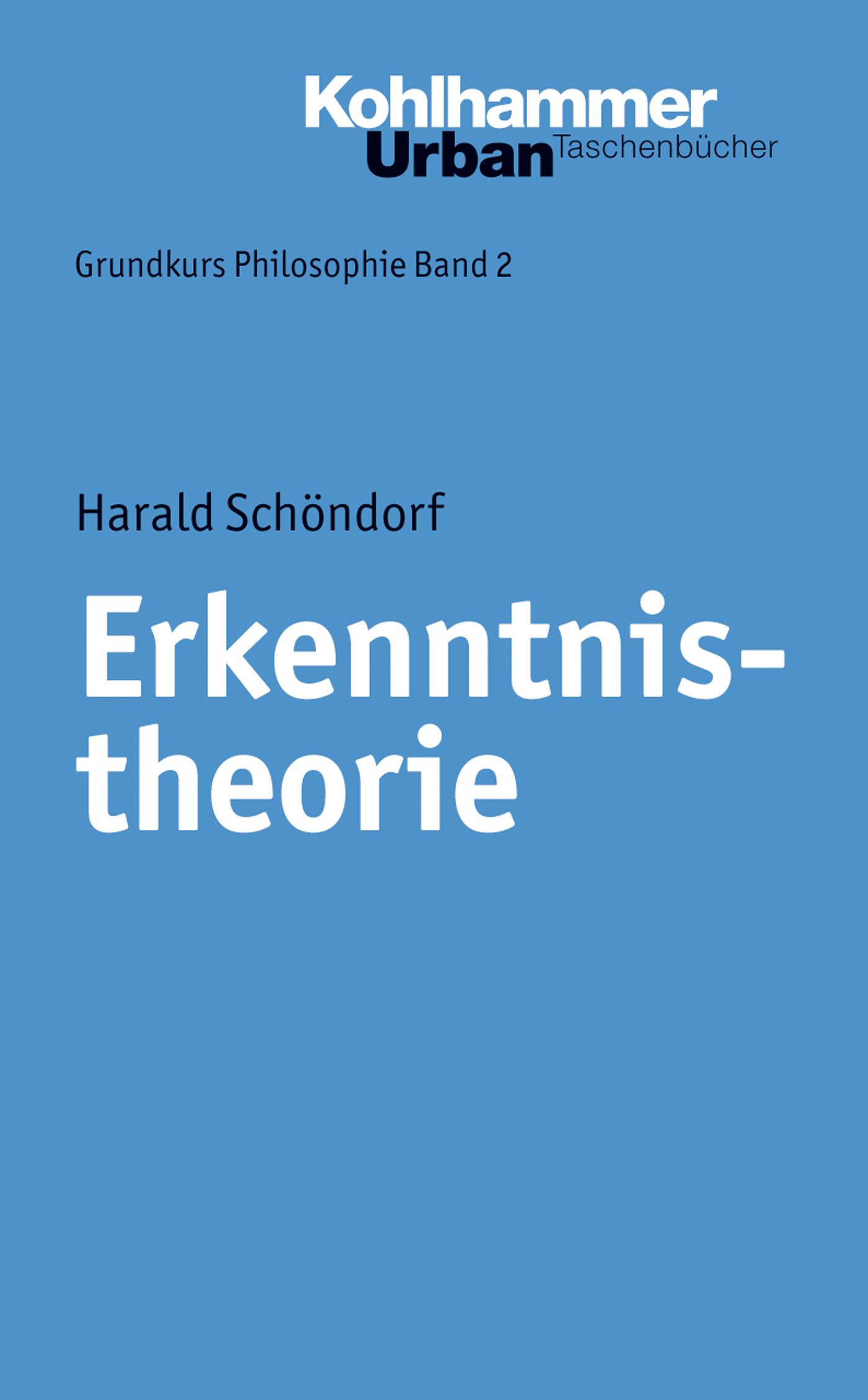Harald Schondorf Erkenntnistheorie