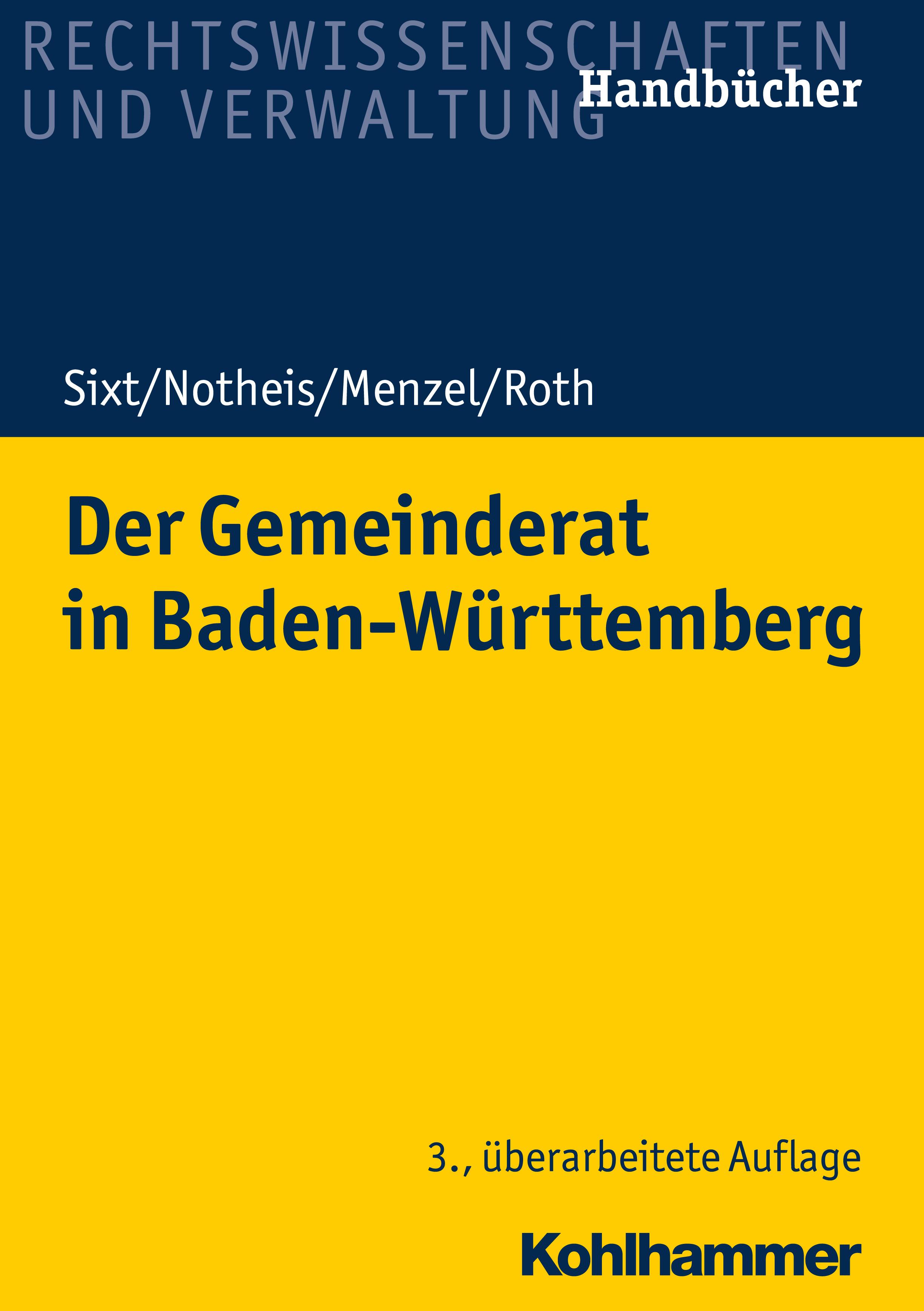 Werner Sixt Der Gemeinderat in Baden-Württemberg werner petrosch die neutralitat der mitte