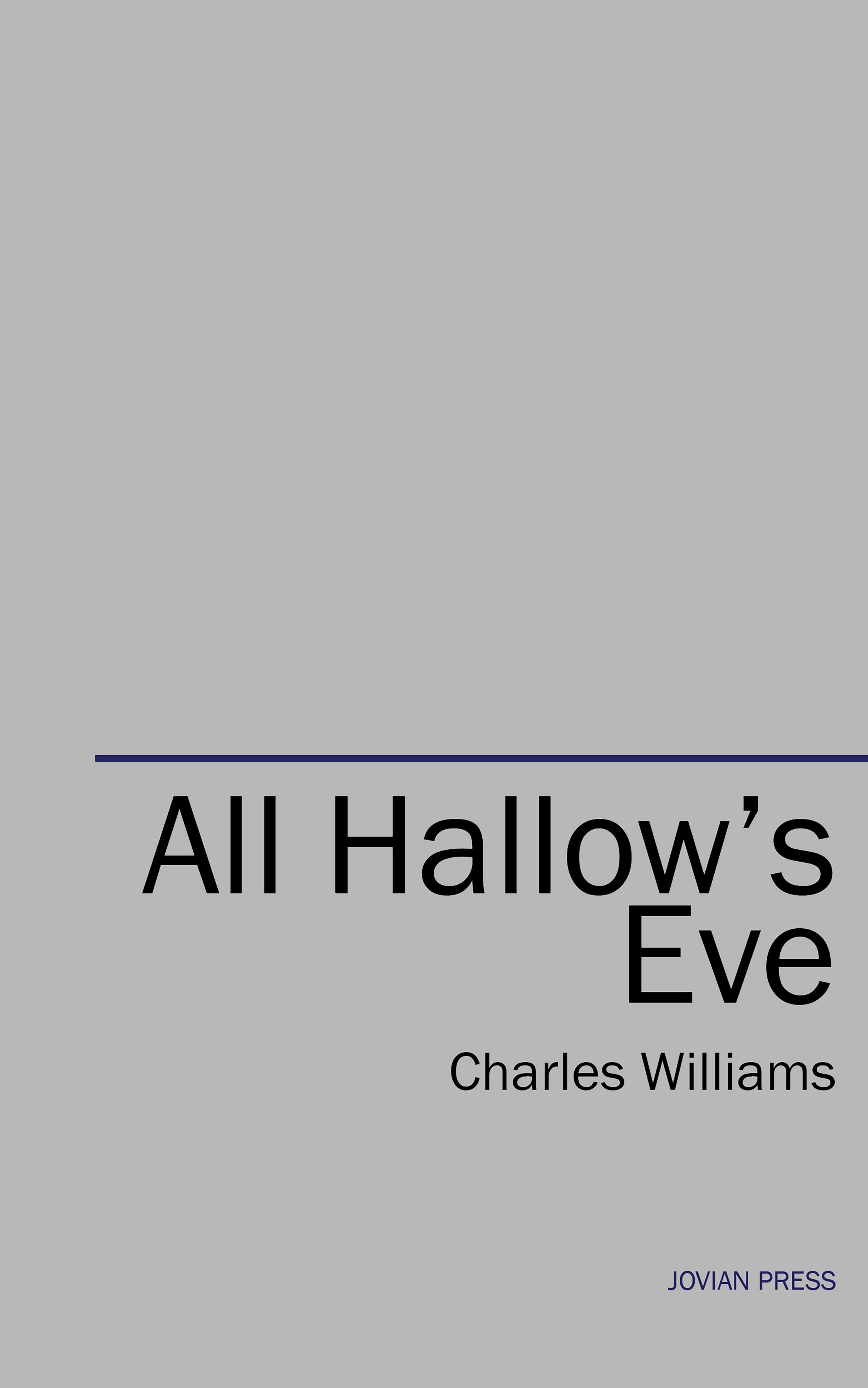 Charles Williams All Hallow's Eve