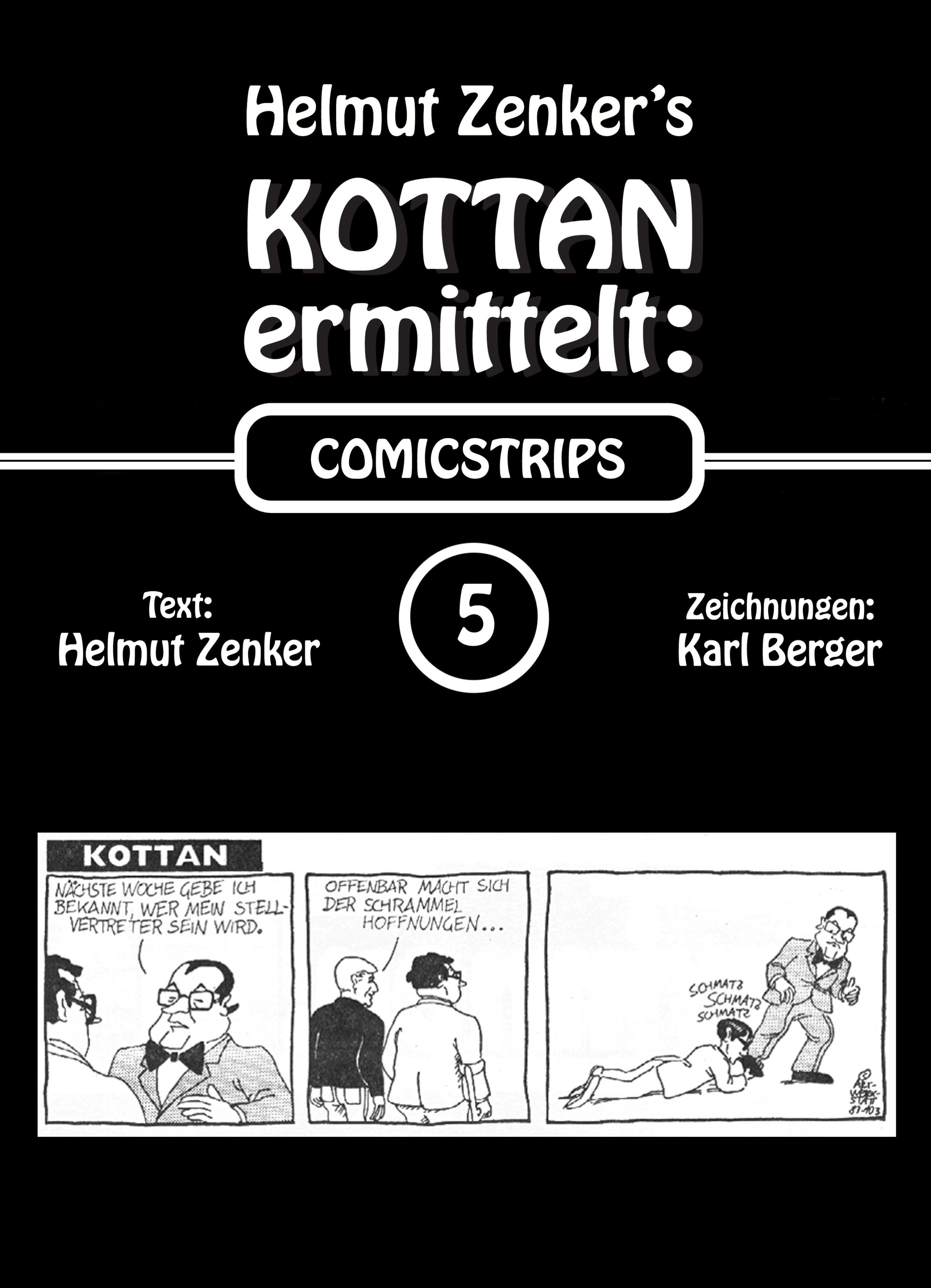 Helmut Zenker Kottan ermittelt: Comicstrips 5 helmut zenker kottan ermittelt mord in schönbrunn