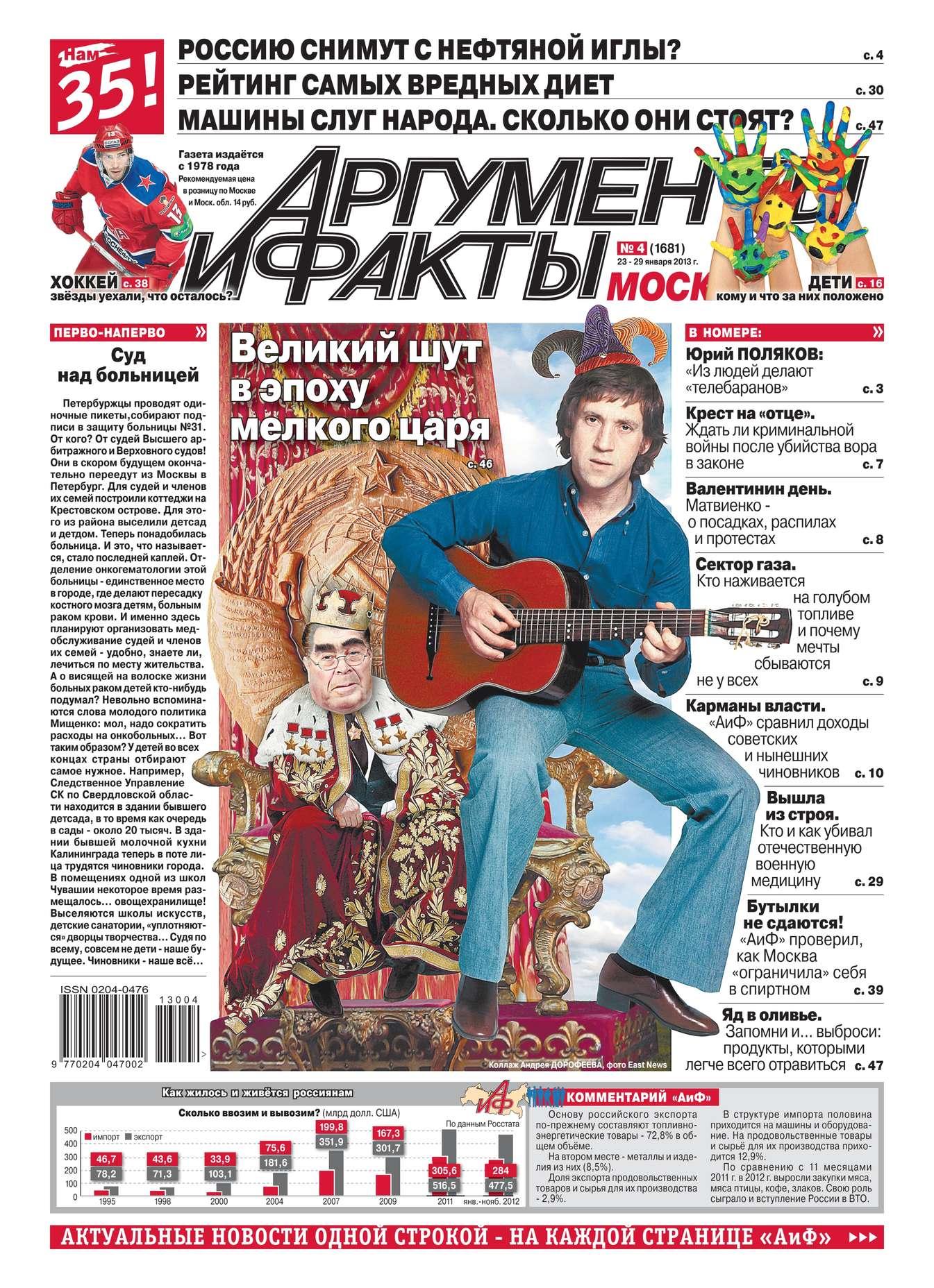 Редакция журнала Аиф. Про Кухню Аргументы и факты 04-2013