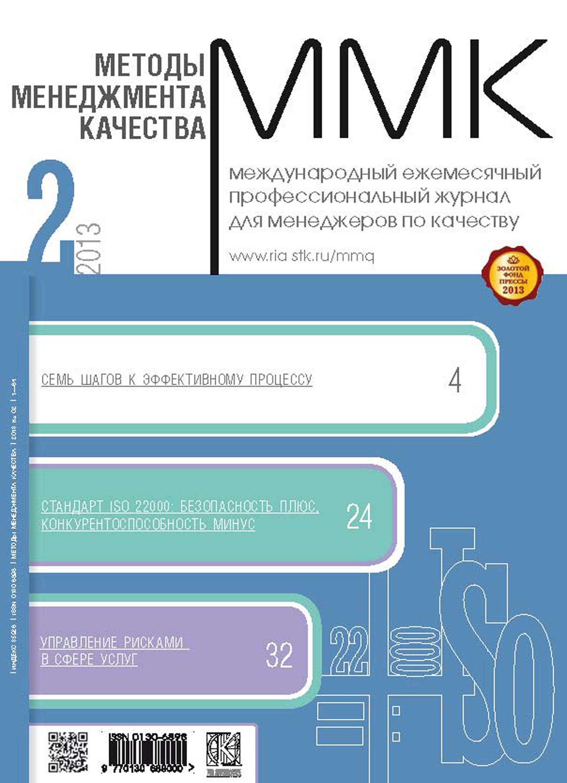 Отсутствует Методы менеджмента качества № 2 2013