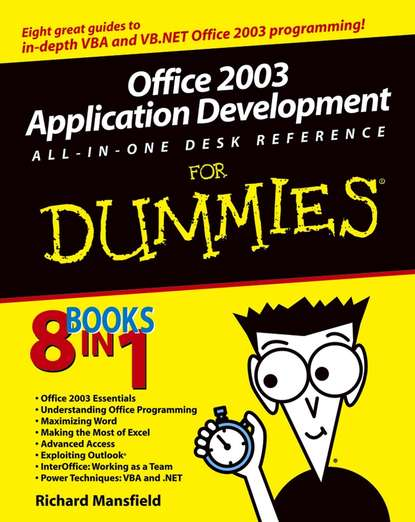 alan simpson access 2007 vba programming for dummies Richard Mansfield Office 2003 Application Development All-in-One Desk Reference For Dummies