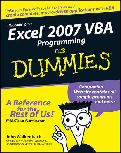 alan simpson access 2007 vba programming for dummies John Walkenbach Excel 2007 VBA Programming For Dummies