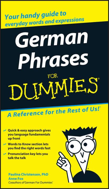 Anne Fox German Phrases For Dummies недорого
