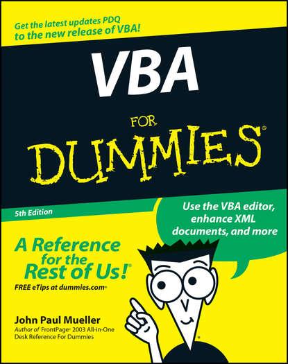 alan simpson access 2007 vba programming for dummies John Paul Mueller VBA For Dummies