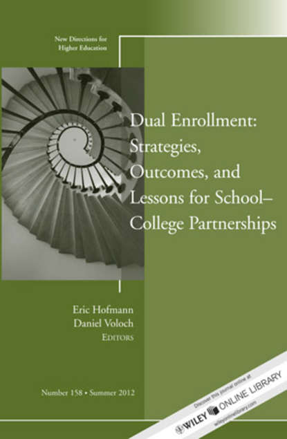 Eric Hoffman Dual Enrollment: Strategies, Outcomes, and Lessons for School-College Partnerships. New Directions for Higher Education, Number 158 impact of caregiver education on stroke survivors and their caregivers