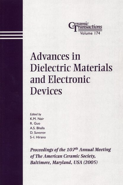 D. Suvorov Advances in Dielectric Materials and Electronic Devices d suvorov advances in dielectric materials and electronic devices