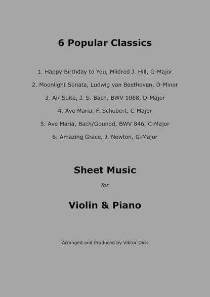Viktor Dick Popular Classics (Violin & Piano) p csige prelude for piano and violin