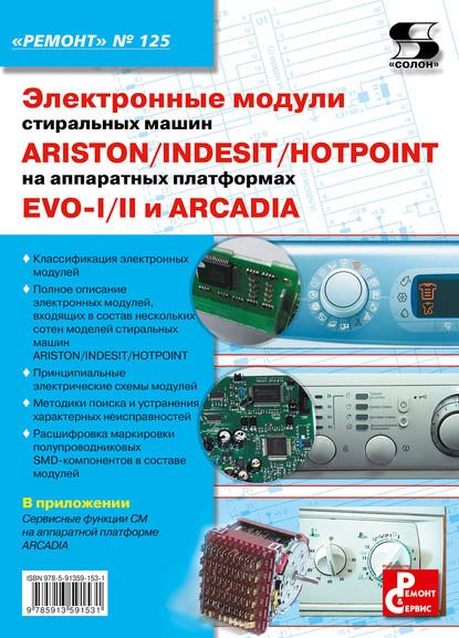 Отсутствует Электронные модули стиральных машин INDESIT/ARISTON/HOTPOINT на аппаратных платформах EVO-I/II, ARCADIA электронные модули стиральных машин