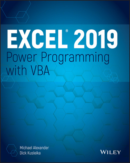 Michael Alexander Excel 2019 Power Programming with VBA недорого