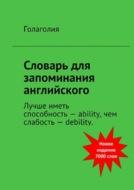 Словарь для запоминания английского. Лучше иметь способность– ability, чем слабость– debility