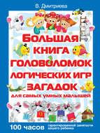 Большая книга головоломок, логических игр, загадок для самых умных малышей