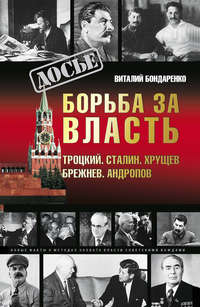 Книга Борьба за власть: Троцкий, Сталин, Хрущев, Брежнев, Андропов - Автор Виталий Бондаренко