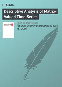 Купить книгу Descriptive Analysis of Matrix-Valued Time-Series, автора