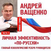 Купить книгу Личная эффективность «по-русски». Лекция 3, автора Андрея Ващенко