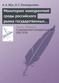 Мониторинг конкурентной среды российского рынка государственных и муниципальных закупок
