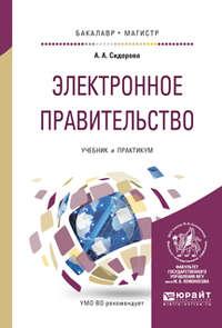 Электронное правительство. Учебник и практикум для бакалавриата и магистратуры